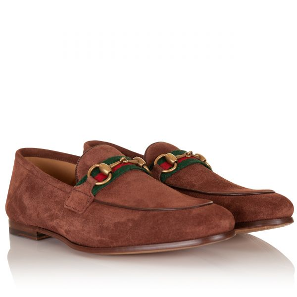 Gucci Web Suede Horsebit Loafer
