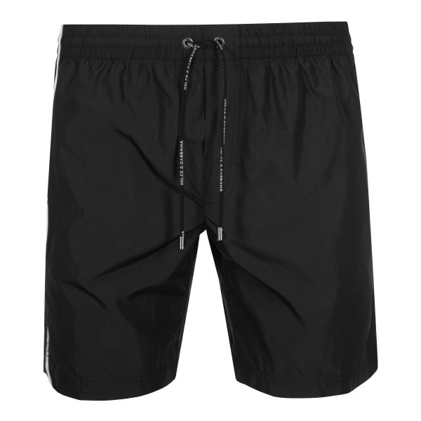 Dolce & Gabbana Side Stripe Logo Swim Shorts