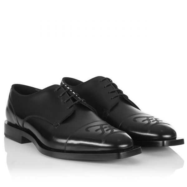 Fendi Embroidered FF Derby Shoes