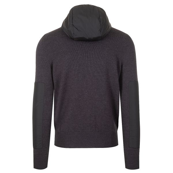 Moncler Grenoble Wool Knit Hooded Cardigan