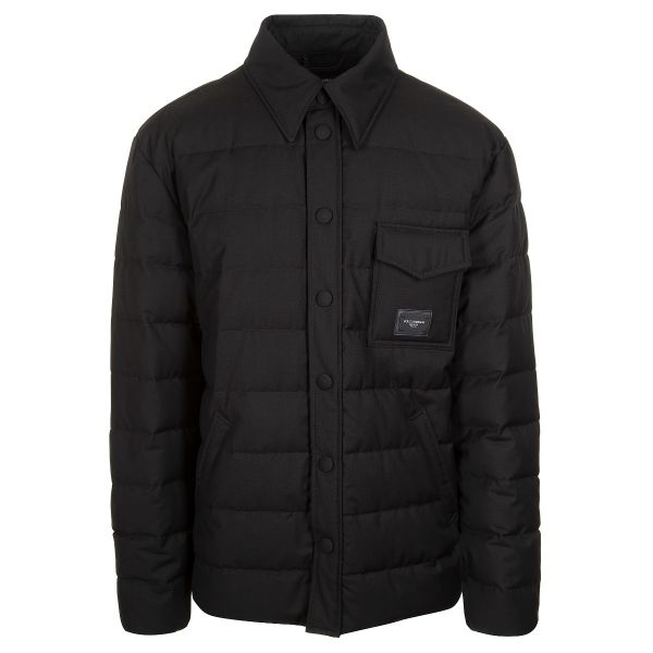 Dolce & Gabbana Quilted Branded Plate Jacket