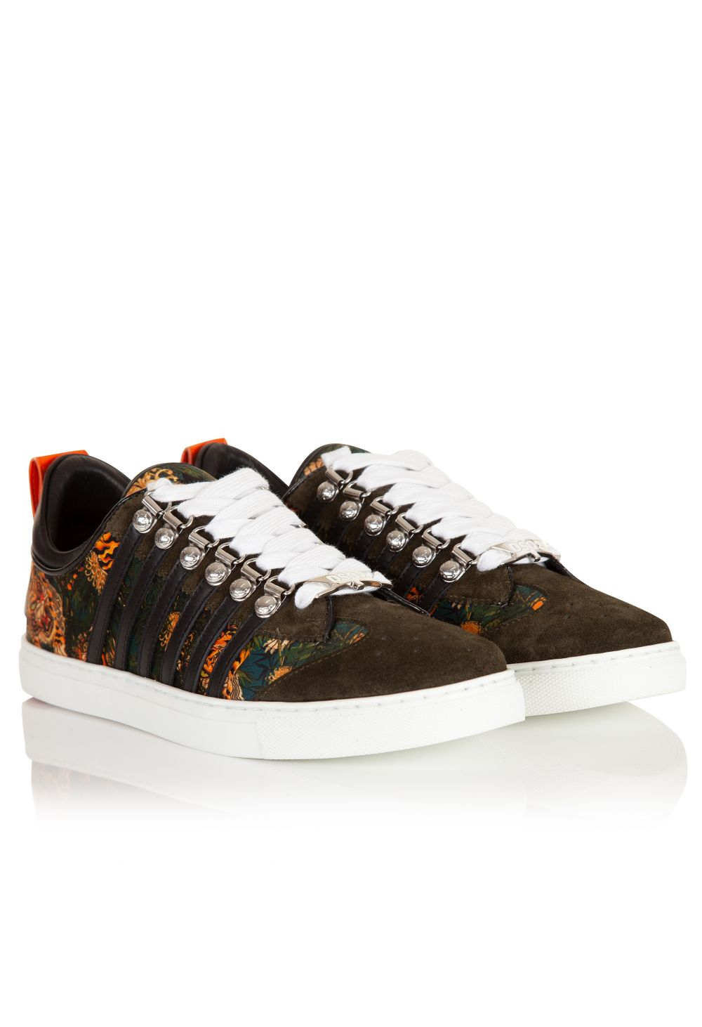 DSquared2 Tiger Pattern Low Top Sneakers